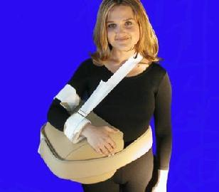 Universal. Allows positioning of shoulder in choice of 2 positions. Provides post-injury or post-surgical support of arm and shoulder